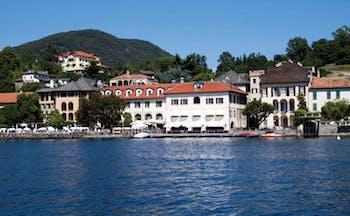 Hotel San Rocco Lake Orta exterior hotel buildings jetty lake