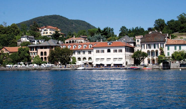 Hotel San Rocco Lake Orta exterior hotel buildings jetty lake