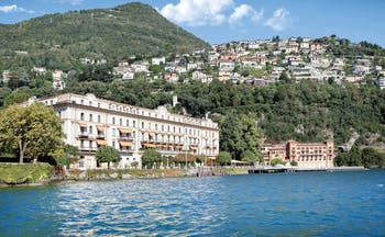 Villa d' Este Lake Como view of hotel exterior from the lake