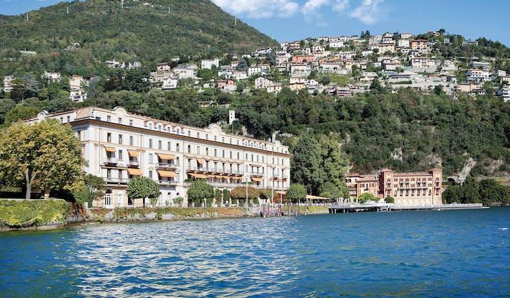 Villa d' Este Lake Como view of hotel exterior from the lake