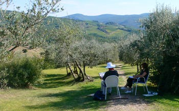 Painting in Tuscany at Villa le Barone