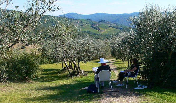 Painting in Tuscany at Villa le Barone