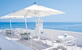 Don Ferrante Puglia rooftop restaurant overlooking the sea