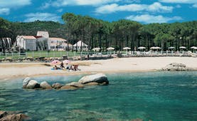 Hotel La Coluccia Sardinia beach sandy beach sea hotel buildings in background