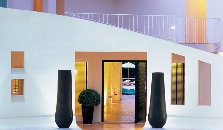 Hotel La Coluccia Sardinia entrance to hotel modern architecture modern décor
