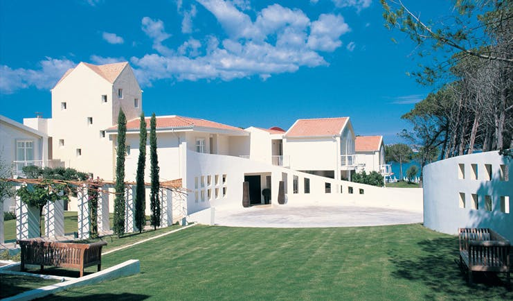 Hotel La Coluccia Sardinia grounds hotel buildings lawns modern architecture