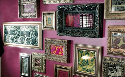 Hotel La Coluccia Sardinia interiors details wall picture frames