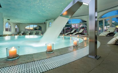 La Rocca Sardinia spa pool indoor neck waterfall
