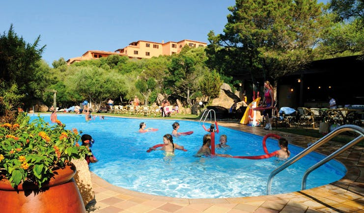 Hotel Rocce Sarde Sardinia family pool children playing in the water