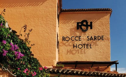 Hotel Rocce Sarde Sardinia hotel sign traditional architecture