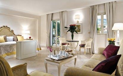 Villa Sant Andrea Sicily suite living area sofas bed