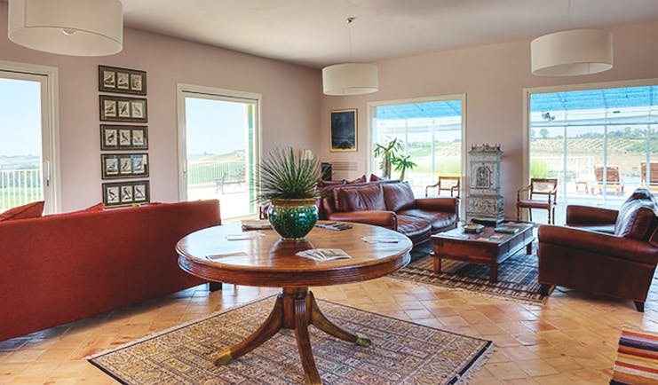Foresteria La Planeta Sicily lounge area modern décor