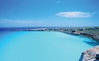 Giardino Di Constanza Sicily Cala Rossa bay coastline blue sea