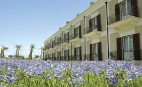 Giardino Di Constanza Sicily exterior hotel building field of flowers