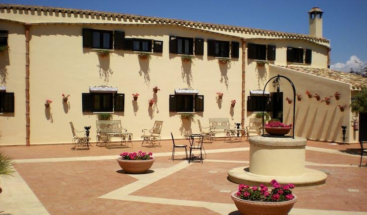 Hotel Baglio Della Luna Sicily patio outdoor seating