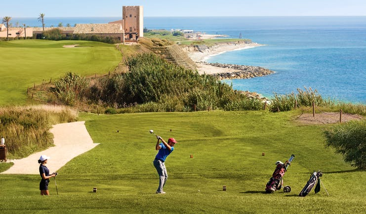 Verdura Resort golf course and tower and coast