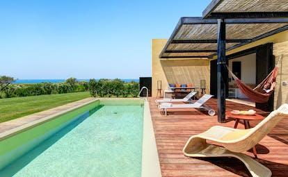 Verdura Resort pool with terrace decking