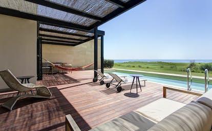Verdura Resort villa peonia terrace and pool