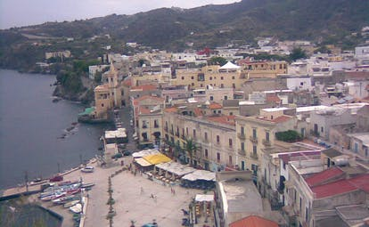 Villa Meligunis Sicily town authentic architecture sea front jetty