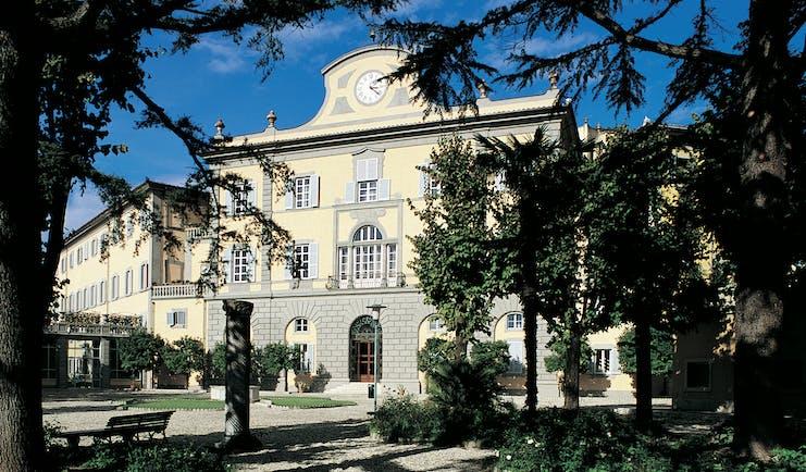 Bagni Di Pisa Tuscany main hotel building trees driveway