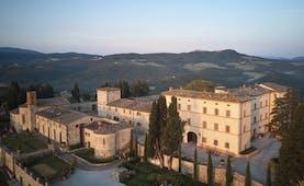 Belmond Castello di Casole Tuscany hotel exterior rural estate in background
