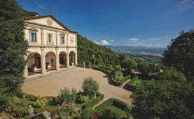 Villa San Michele Tuscany entrance drive way hotel building