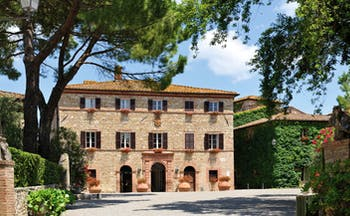 Hotel Borgo San Felice Tuscany entrance hotel exterior courtyard