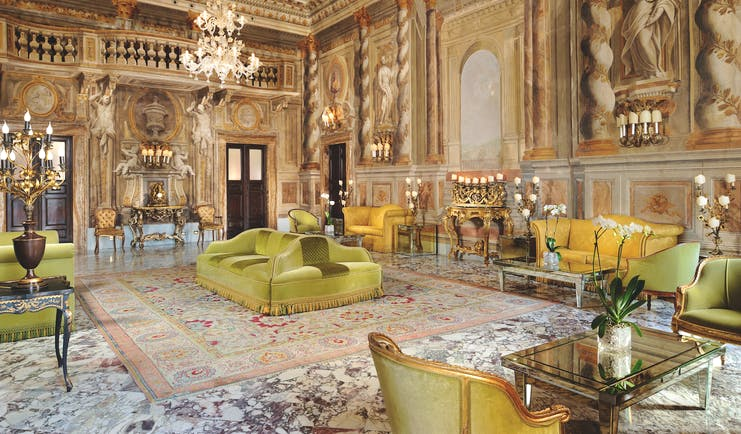 Grand Hotel Continental Tuscany ballroom indoor seating area elegant ornate décor