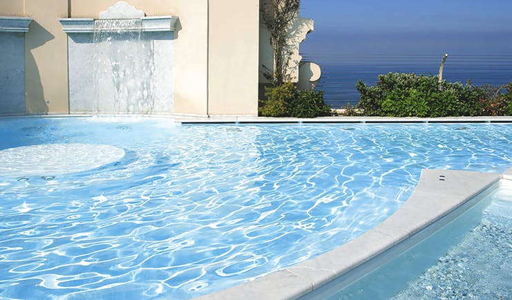 Principe di Piemonte Tuscany pool and water feature views out to sea
