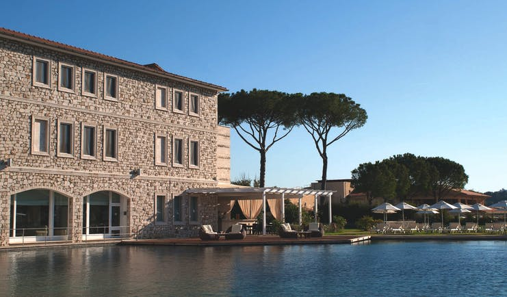 Terme di Saturnia Tuscany main hotel exterior and pool