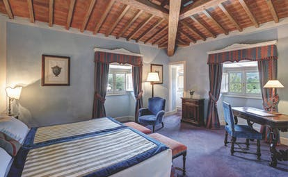 Villa La Massa Tuscany double room bedroom furniture cosy décor