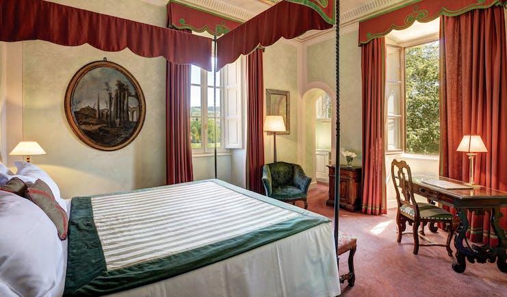 Villa La Massa Tuscany junior suite top canopy bed traditional décor