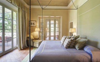 Villa La Massa Tuscany presidential suite master bedroom elegant décor