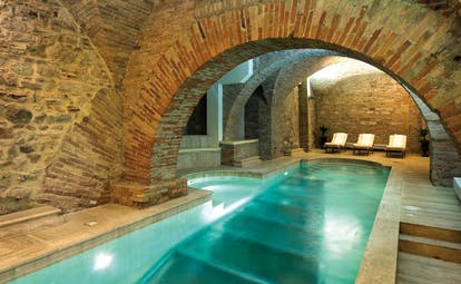 Hotel Brufani Palace Umbria pool indoor pool original architectural features