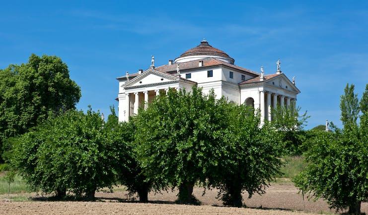 Palladian classical villa with round rooftop called La Rotonda near Vicenza