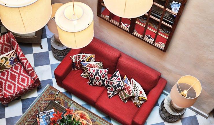 Corral del Rey Seville lobby sofas modern décor