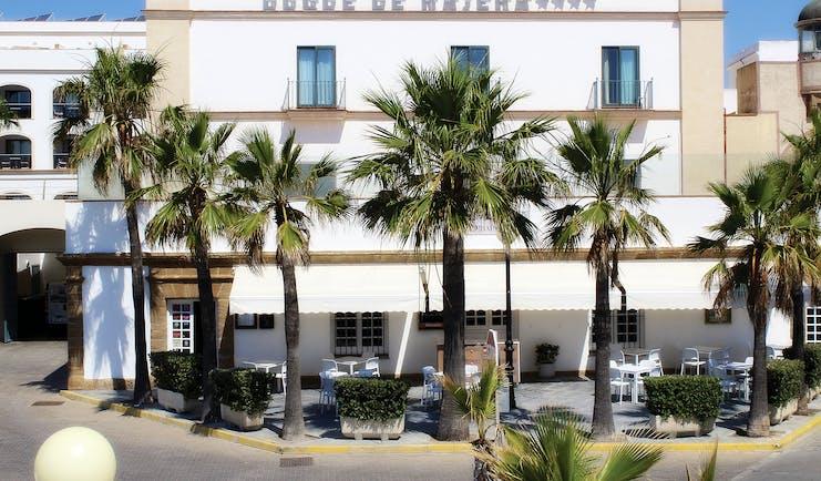 Duque de Najera Andalucia exterior palm trees patio