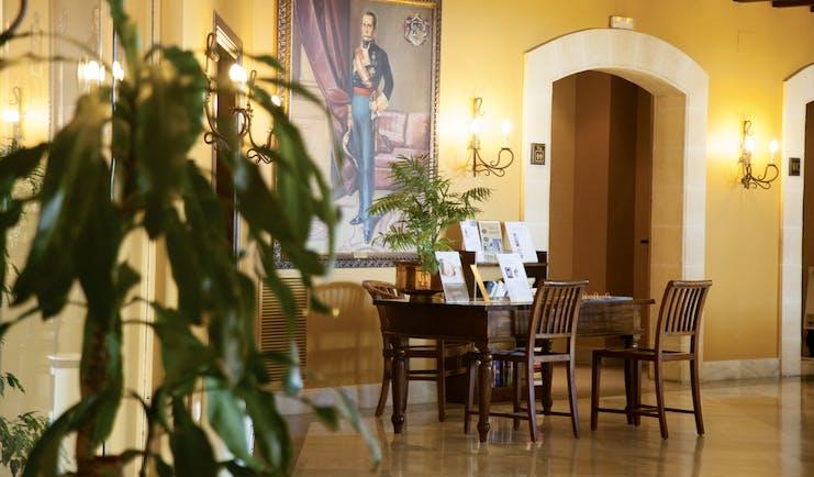 Duque de Najera Andalucia lobby desk artwork traditional décor