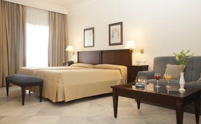 Duque de Najera Andalucia superior double room bed sofa modern décor