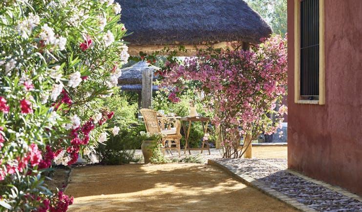 Hacienda de San Rafael Andalucia garden outdoor seating trees flowers