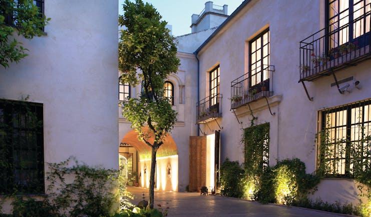 Palacio del Bailio Andalucia hotel exterior balconies trees pathway
