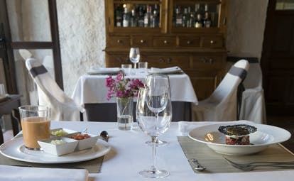 Cortijo de Marques Andalucia restaurant table set for diners