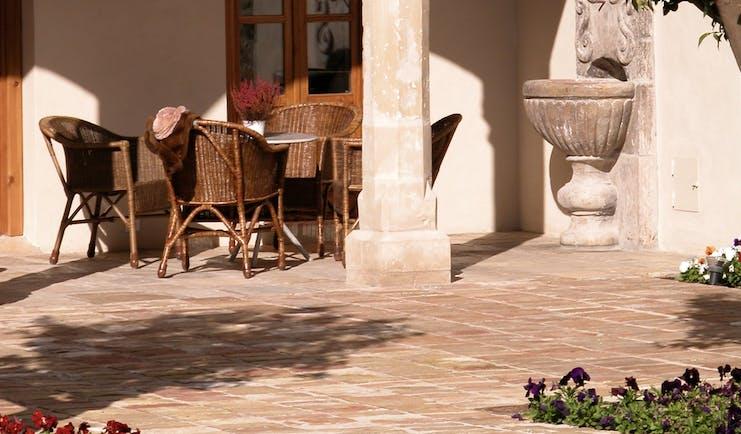 Hotel Puerta de la Luna Andalucia terrace outdoor seating area tables chairs