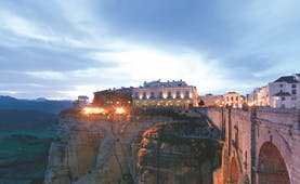 Parador de Ronda Andalucia exterior cliffside hotel city countryside in background