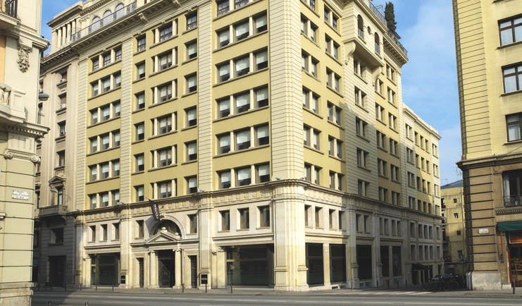 Grand Hotel Central Barcelona exterior hotel building street view