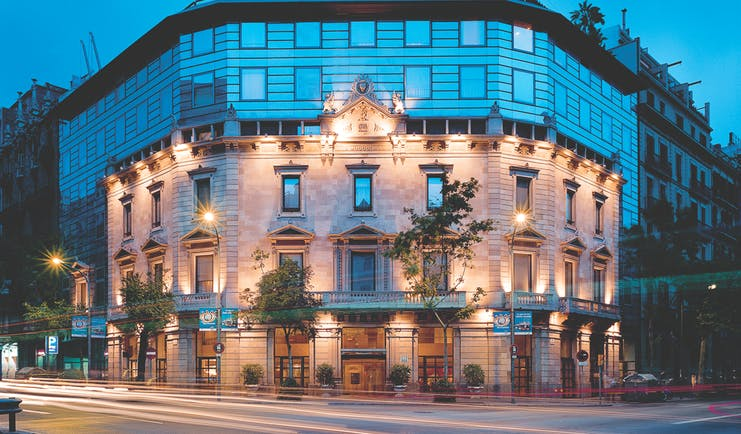 Hotel Claris Barcelona exterior front of building street view