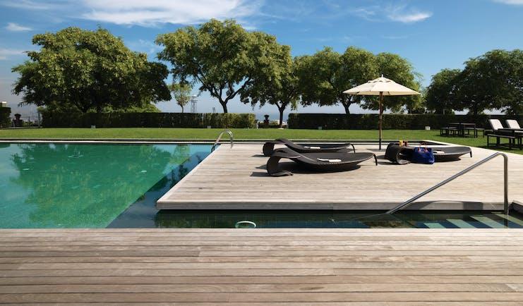 Hotel Miramar Barcelona pool lawns terrace sun loungers