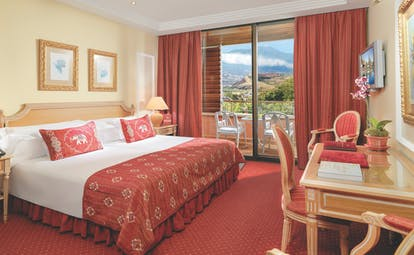 Hotel Botanico Tenerife deluxe double guest room bed desk balcony traditional décor