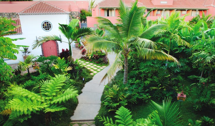 Hacienda de Abajo Canary Islands gardens palm trees pathway lawns trees