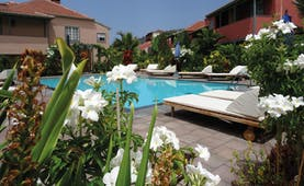 Hacienda de Abajo Canary Islands pool sun loungers flowers